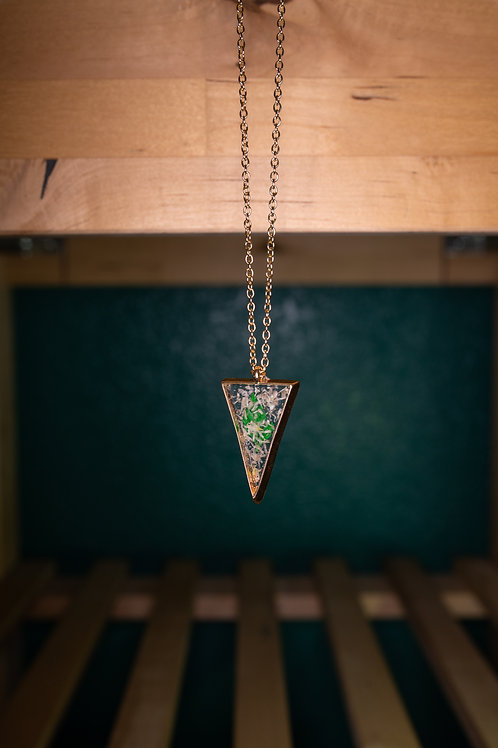 Leaf Triangle Necklace