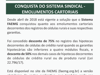 Conquista Sindical Rural - Emolumentos Cartoriais