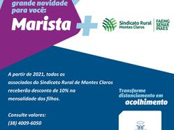 Sindicato Rural anuncia parceria com Colégio Marista