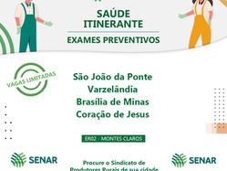 Programa Saúde Itinerante leva exames preventivos a homens e mulheres do campo