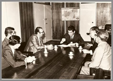 Audiência em Brasília com o Ministro da Agricultura Cirne Lima – 1970. (Osvaldo Souto, Dr. Afonso Brant, José C. Soares Dias, Dep. Edgar Pereira e Coronel Coelho)