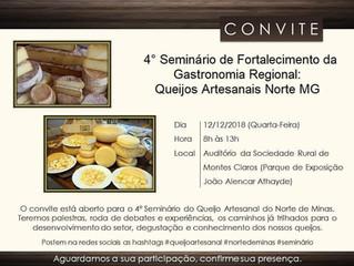 Montes Claros sedia 4º Seminário de Fortalecimento da Gastronomia Regional – Queijo Artesanal do Nor