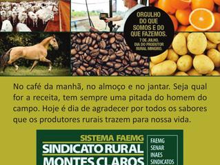 7 de Julho - Dia do Produtor Rural Mineiro