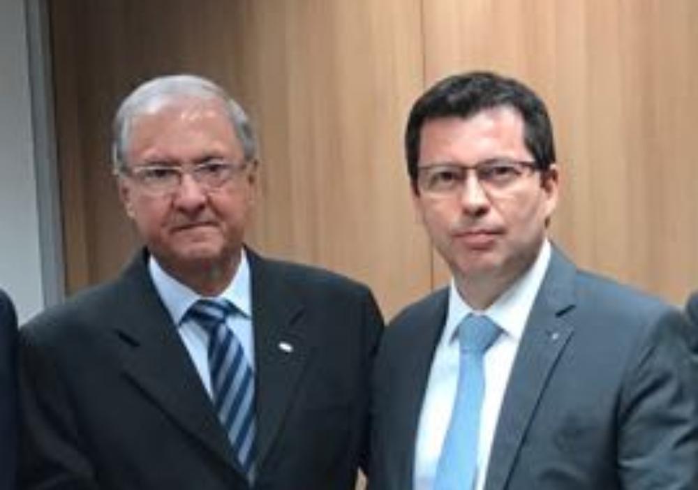 Ricardo Laughton e o presidente do Banco do Brasil, Paulo Rogério Caffarelli