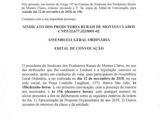 Circular 003/2018 - Assembleia Geral Ordinária