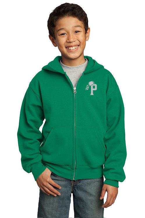 YOUTH Zippered Hooded Sweatshirt