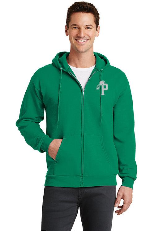 Zippered Hooded Sweatshirt