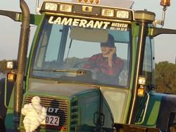 Hans Lamerant met Fendt 515c en ploeg