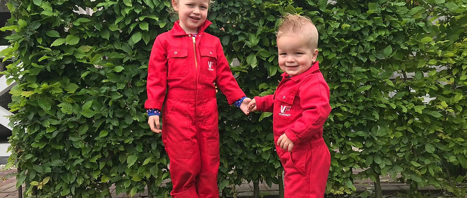 Kinder Overall Rood