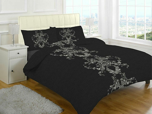 Carson Print Duvet Covers that open on 3 sides.  Super King Size