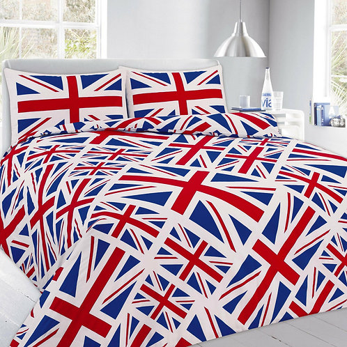 Union Jack Print Duvet Covers that open on 3 sides. King Size