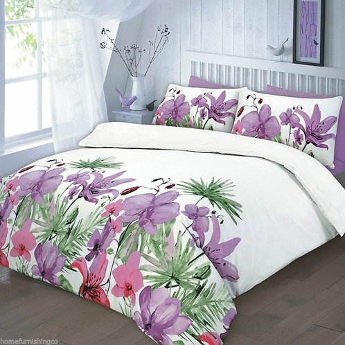 Floral Duvet Covers - Open on 3 sides. Single Size