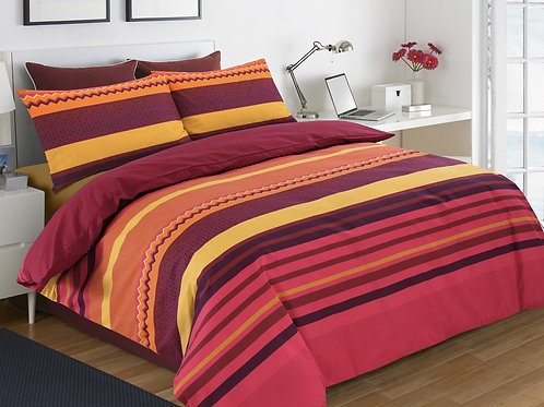 Striped Duvet Covers that open on 3 sides.