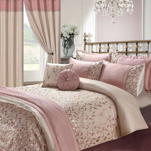 EM Embroidery Duvet Cover Set open on 3 sides. Double Size