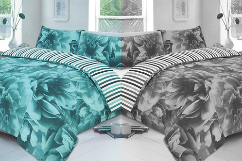 Floral Reversible Duvet Covers that open on 3 Sides. Double Size