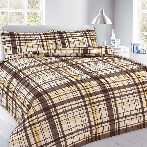 Flynn Print Duvet Covers that open on 3 sides.  King Size