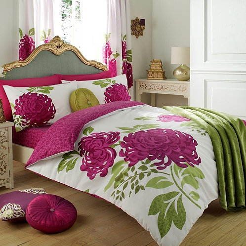 Kew Floral Reversible Duvet Covers that open on 3 sides. Double Size