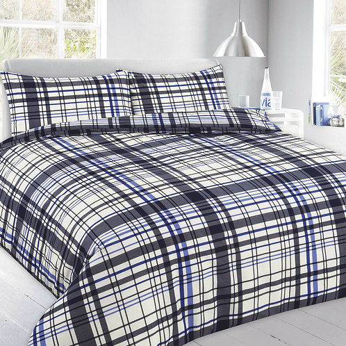 Flynn Print Duvet Covers that open on 3 sides.  Double Size