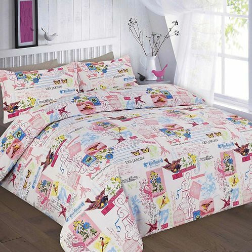 Tily Print Duvet Covers that open on 3 sides. Double Size
