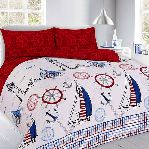 Jake Print Duvet Covers that open on 3 sides. King Size