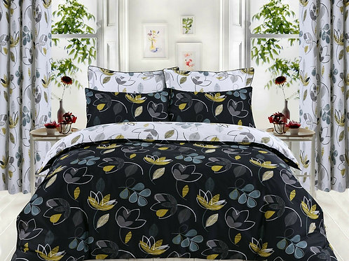 Bloom Floral 100% Cotton Duvet Covers Opens on 3 sides. Single Size