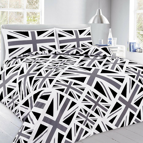 Union Jack Print Duvet Covers that open on 3 sides. Super King Size