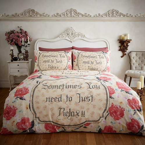 Relax Flannel Thermal 100% Cotton Duvet Cover opens on 3 sides. Double Size