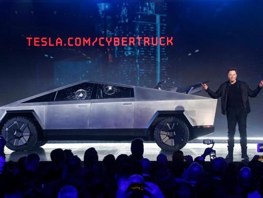 Tesla's Elon Musk takes Cybertruck for a ride
