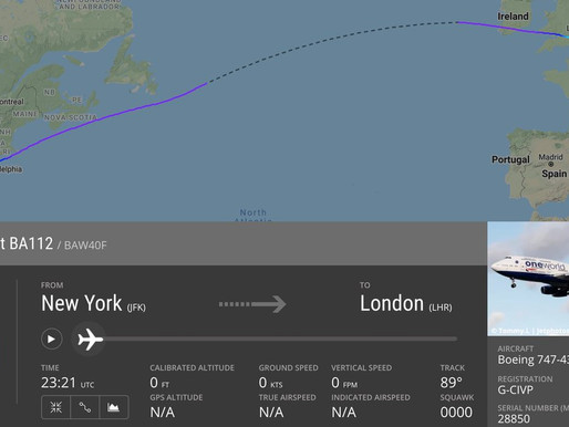 British Airways 747 sets record for subsonic flight from new York to London