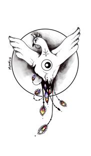 Phoenix bird tattoo custom design