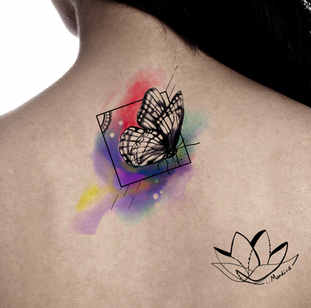 butterfly watercolour tattoo