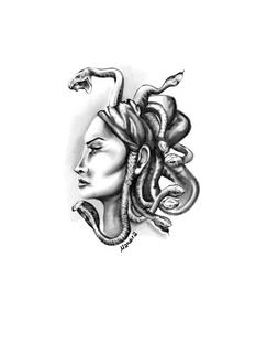 Medusa custom tattoo design