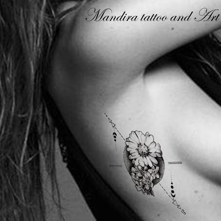 Tattoo symbols / Forget me not (Myosotis)