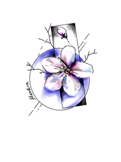 Cherry blossom watercolour tattoo design