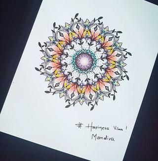 #hapinessvibes mandala design
