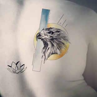 Eagle realistic tattoo design