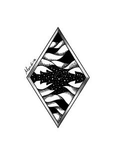 Rhombus sky tattoo custom design