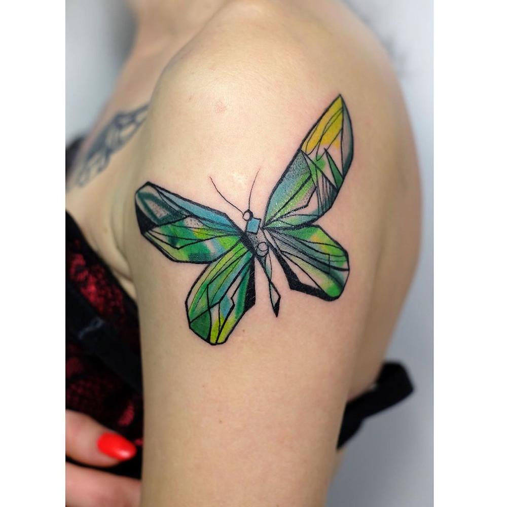 Artistic arm tattoo