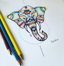 #Elephant #mandala design... next articl