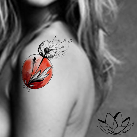 Dandelion tattoo Symbol