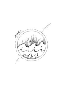 Waves mandala minimal custom tattoo
