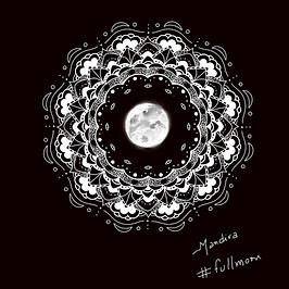 Full moon mandala