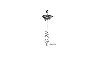 Unalome with lotus & moon custom design