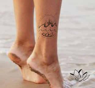 Waves mandala tattoo design