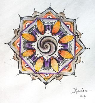 Garhering mandala by Mandira