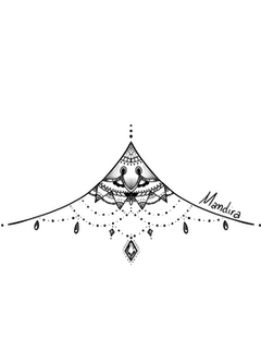 Under breast mandala , ornamental tattoo design by Mandira