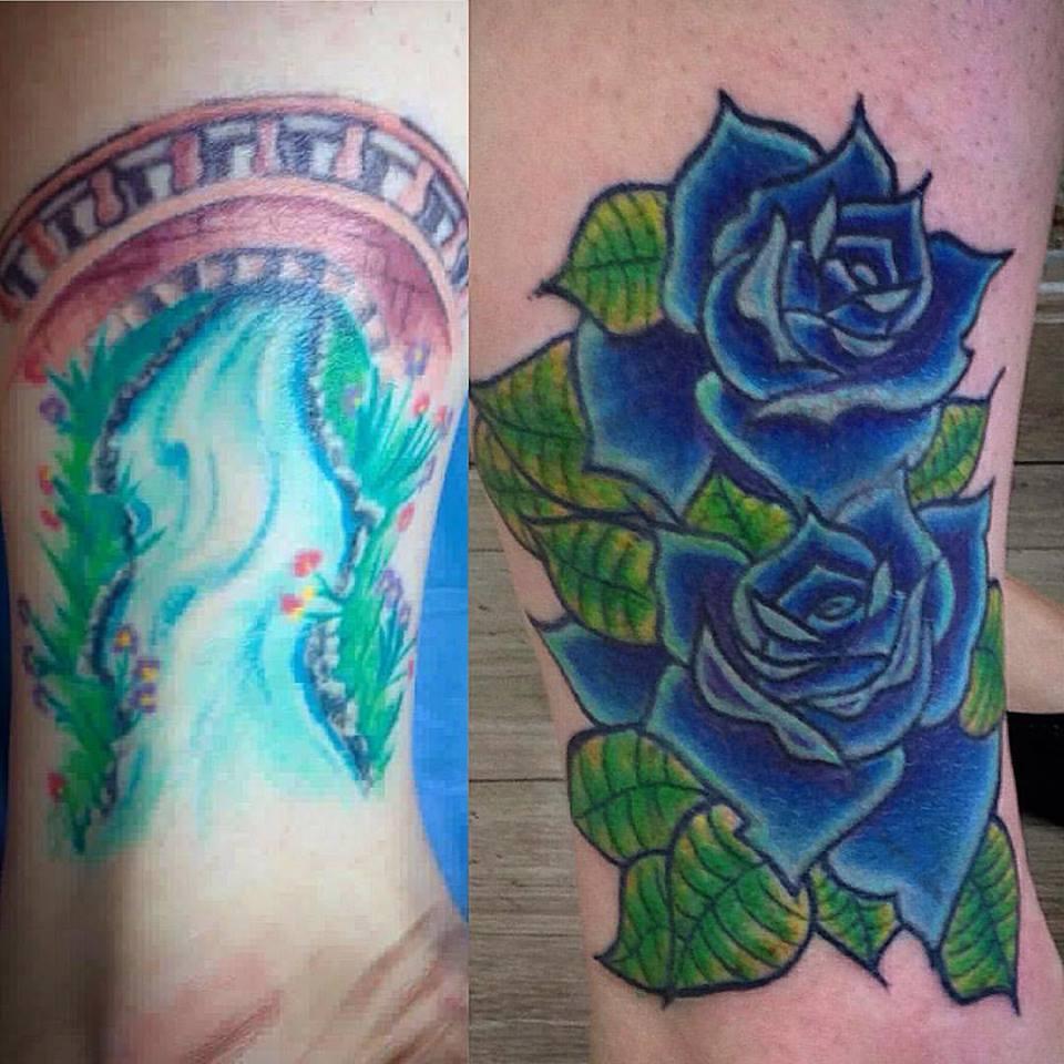 Cobertura Rosas Azuis