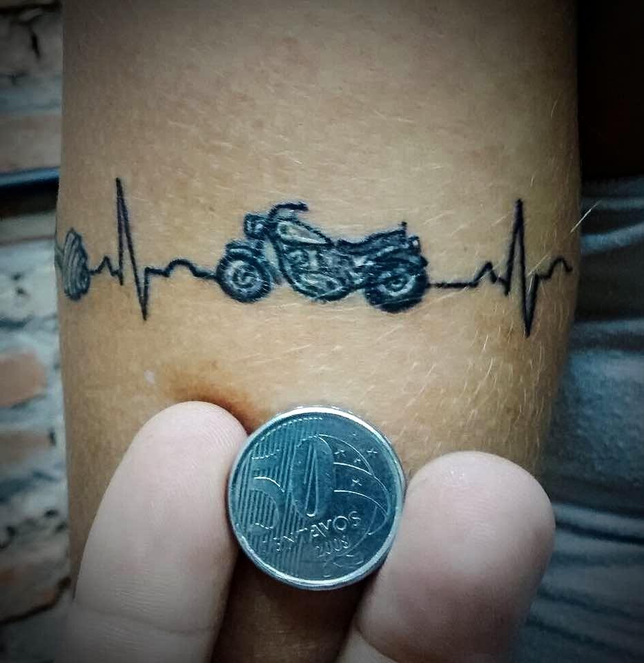 Mini Tatuagem Moto