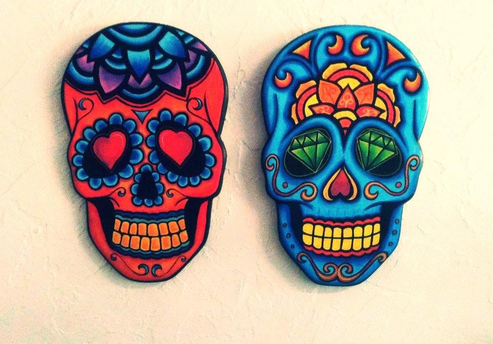 Caveiras Mexicanas Pintadas a Mão