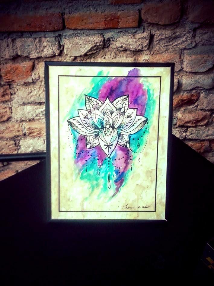 Flor de Lotus Aquarela